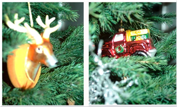 """Manly Ornaments""   You can find the reindeer one at Fab.com, and at a great price!"