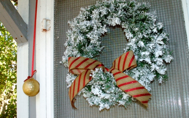 A no-fuss back-door wreath.