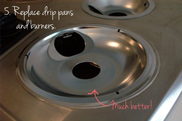 Stove Service: 5-New drip pans