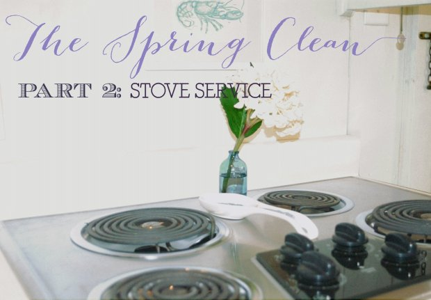 The Spring Clean: stove service