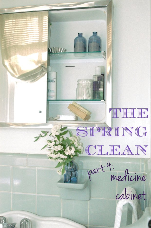The Spring Clean: Part 4 medicine cabinet
