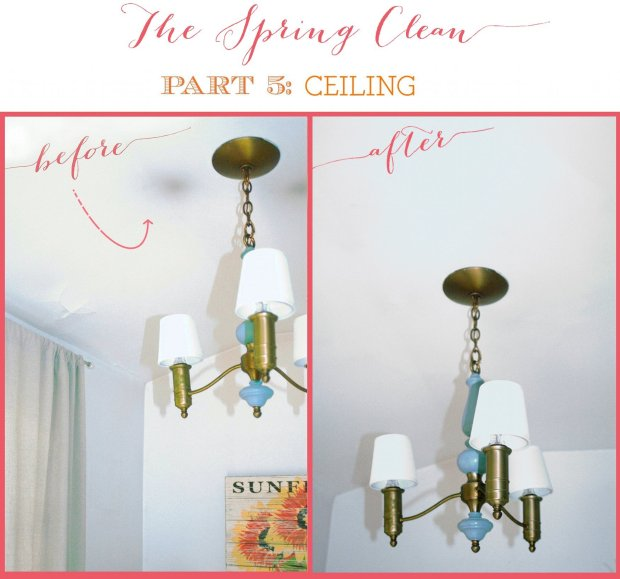 THE SPRING CLEAN: cleaning above light fixtures