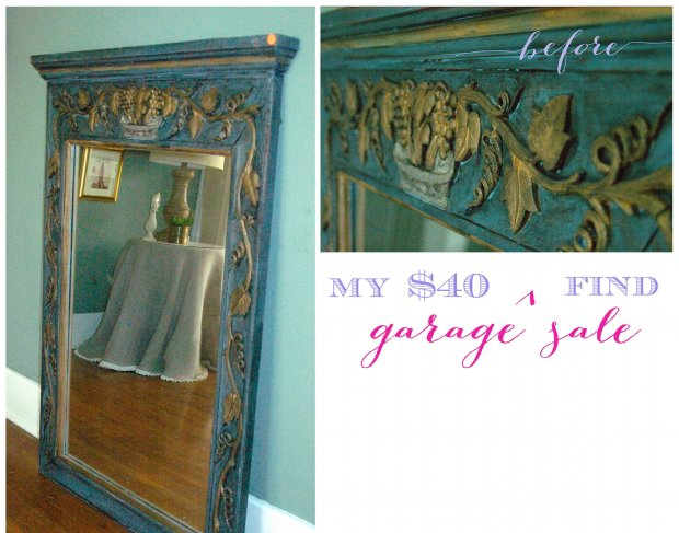 garage sale mirror makeover