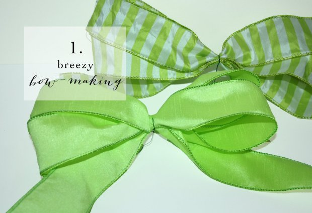 SPRING WREATH : bow making