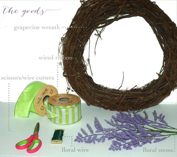 SO SWEET SPRING WREATH materials