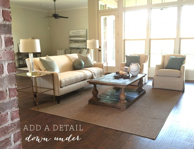 STAGING TO SELL : add a detail down under!