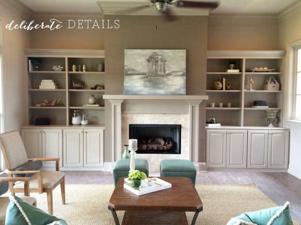 Staging built-in book cases can be a daunting task, so keep it simple!